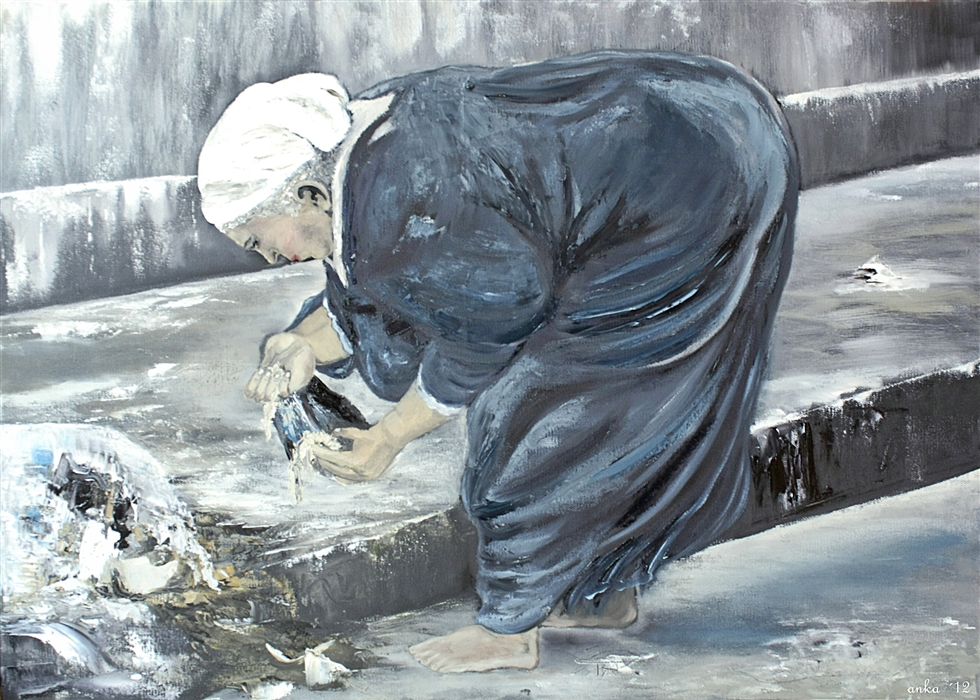 2013 - poverty in old age, 2013, Oil on canvas;70x50 - (Winner)